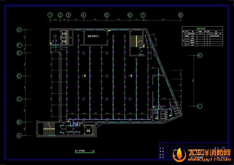 地下一层平面图 商场电气消防全套施工图