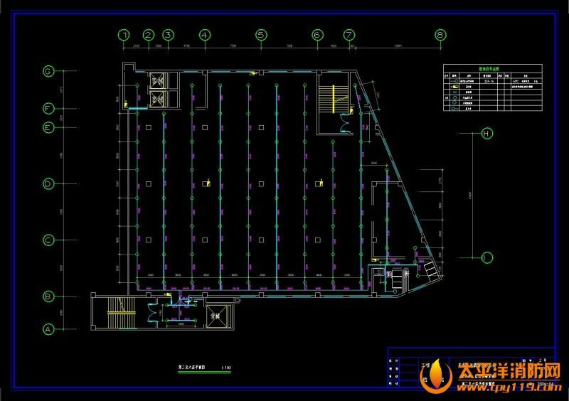 第二至第六层平面图 商场电气消防全套施工图