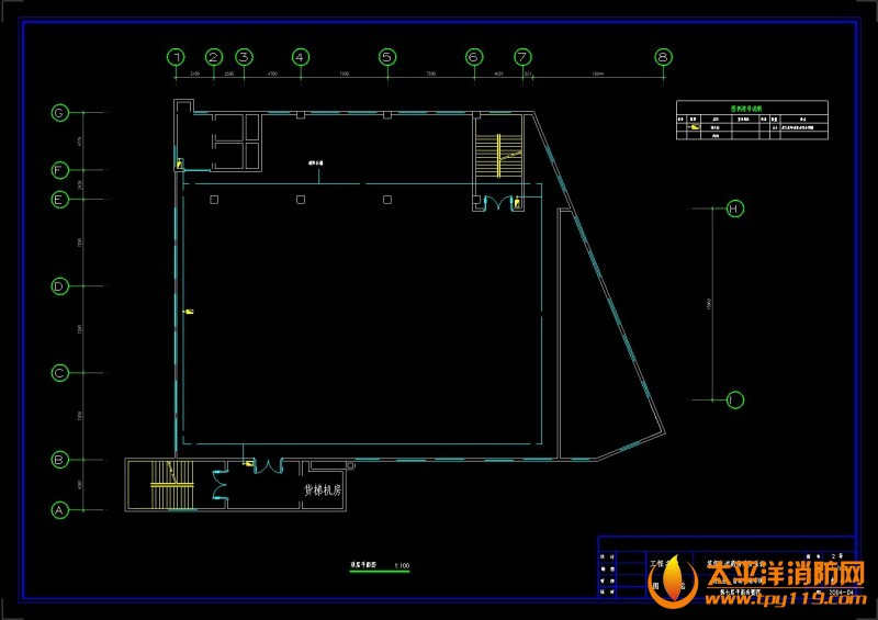 消火栓、自动喷淋系统 商场电气消防全套施工图