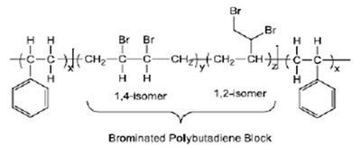 图17丁二烯苯乙烯溴化共聚物