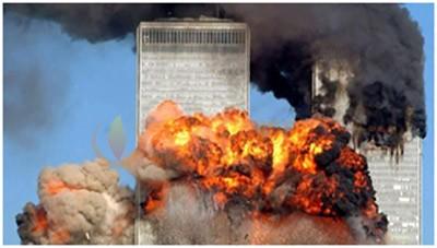 图6在9•11事件中受损的美国世贸大楼