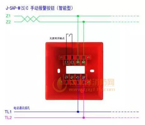 营口新山鹰J-SAP-M(5)C手动报警按钮接线图