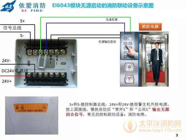 依爱消防EI6043模块接线