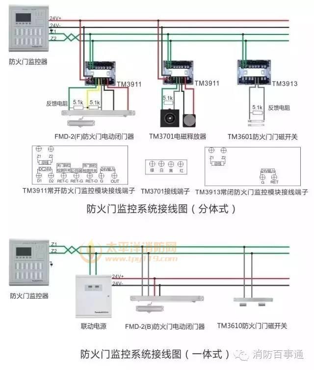 泰和安防火门监控系统接线图