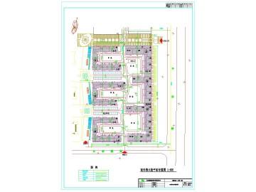 室外消防栓平面布置图 消防CAD图纸