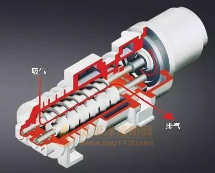 螺杆型干式真空泵的工作原理
