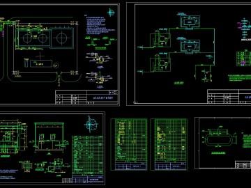 电厂油罐泡沫消防施工图CAD