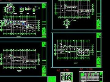 三层幼儿园消防施工图 CAD