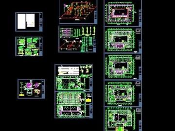 图书馆给排水及消防施工图 CAD