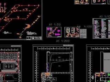 二层会所室内给排水及消防施工图CAD