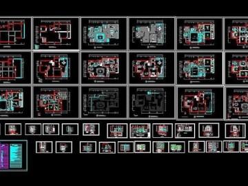 室内装修全套施工图 CAD