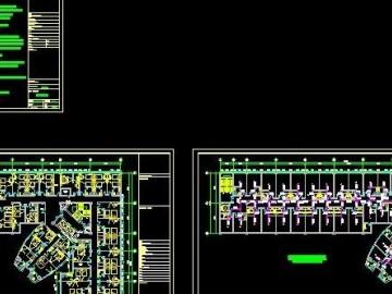 酒店喷淋消防施工图CAD