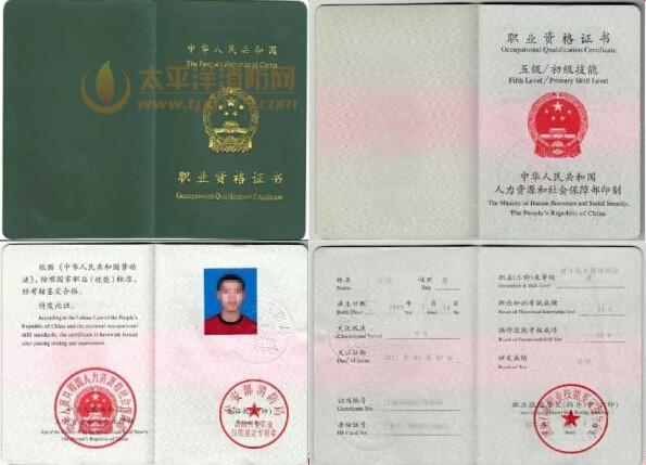初级建构筑物消防员证书