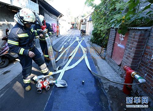 预设地下干式消防供水管路系统